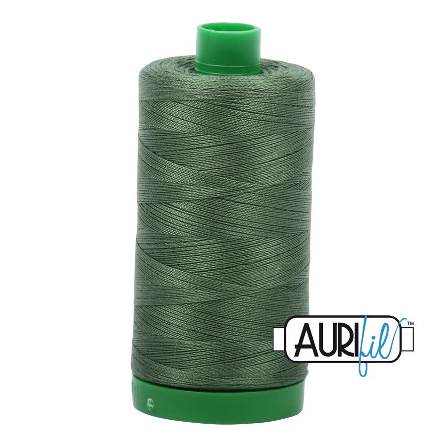 Col. #2890 Very Dark Grass Green - Aurifil 40 Weight