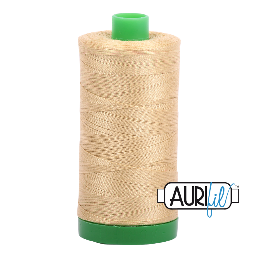 Col. #2915 Very Light Brass - Aurifil 40 Weight
