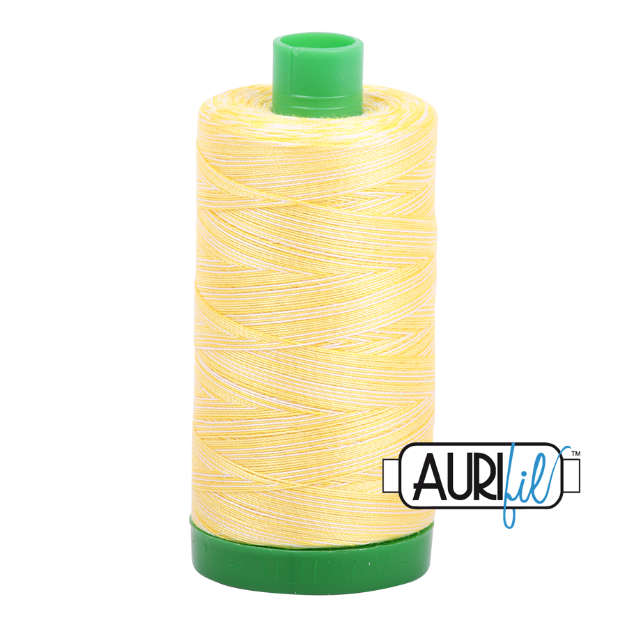 Col. #3910 Lemon Ice - Aurifil 40 Weight
