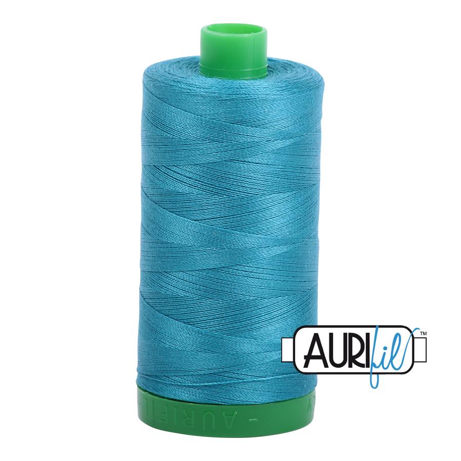 Col. #4182 Dark Turquoise - Aurifil 40 Weight
