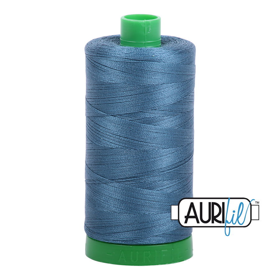 Col. #4644 Smoke Blue - Aurifil 40 Weight