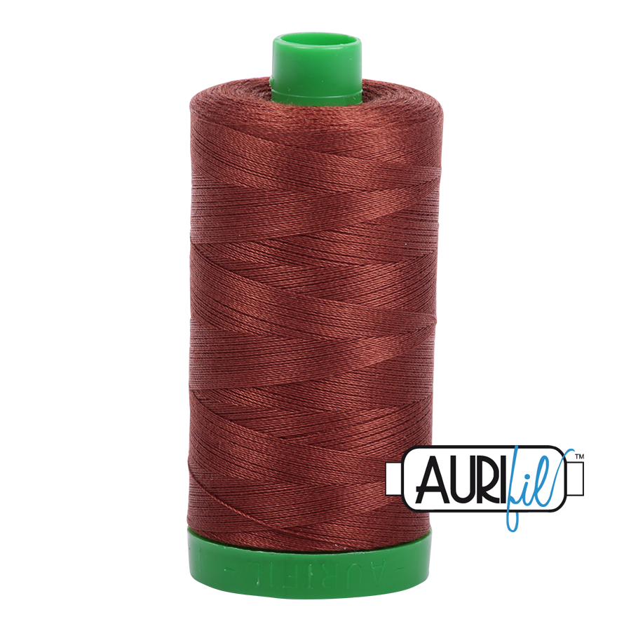 Col. #4012 Copper Brown - Aurifil 40 Weight