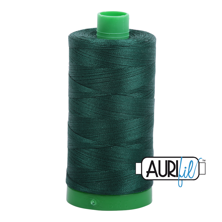 Col. #4026 Forest Green - Aurifil 40 Weight