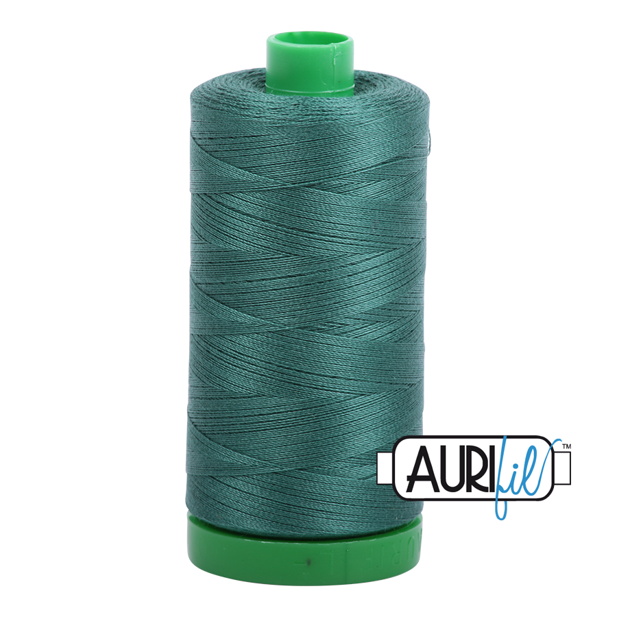 Col. #4129 Turf Green - Aurifil 40 Weight