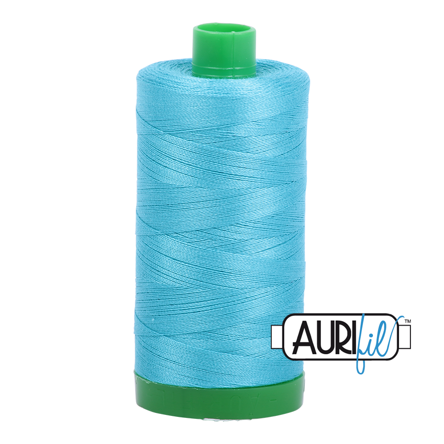Col. #5005 Bright Turquoise - Aurifil 40 Weight