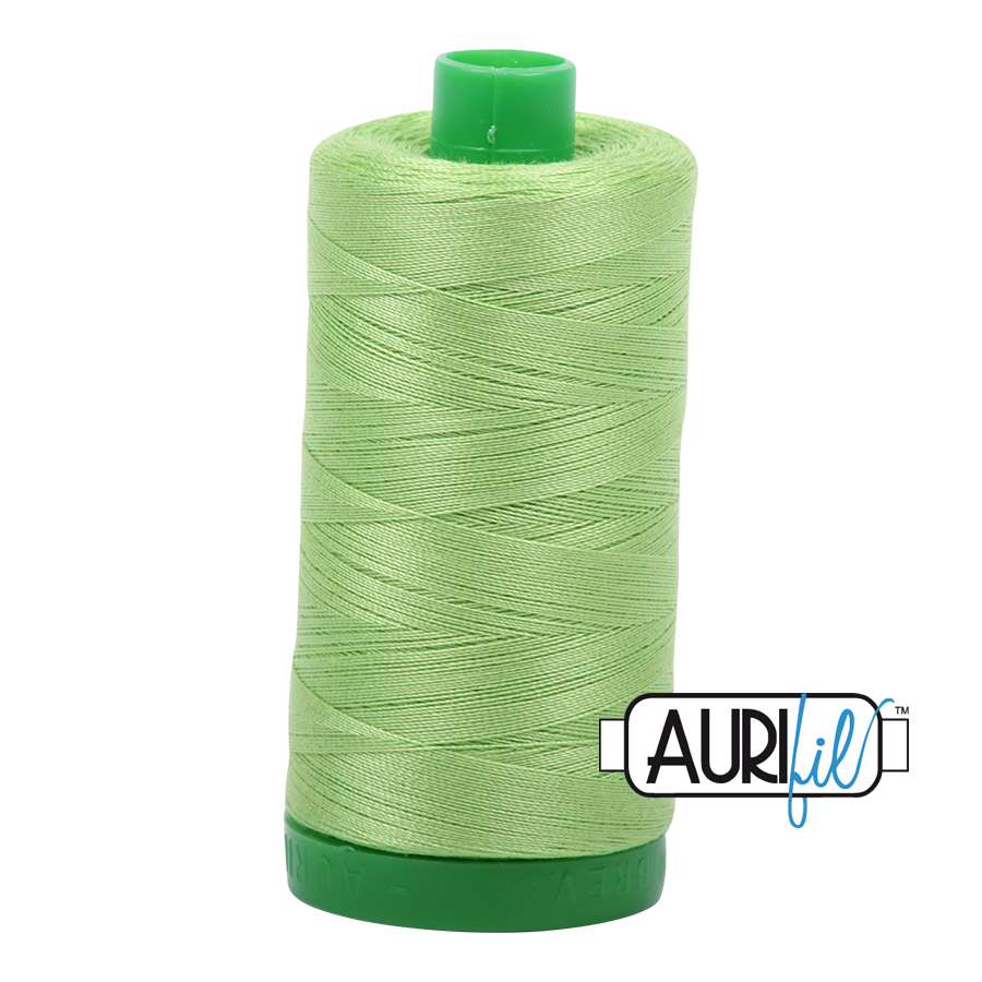 Col. #5017 Shining Green - Aurifil 40 Weight