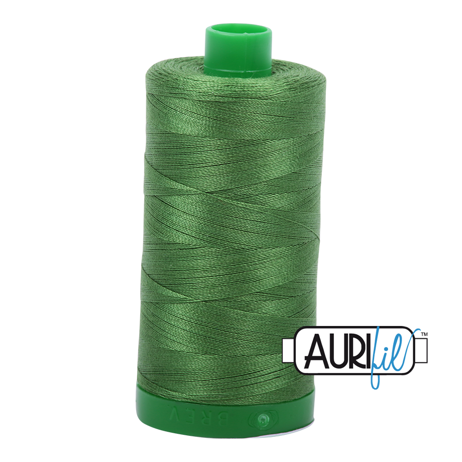 Col. #5018 Dark Grass Green - Aurifil 40 Weight