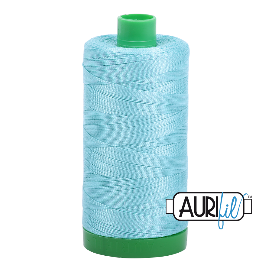 Col. #5006 Light Turquoise - Aurifil 40 Weight