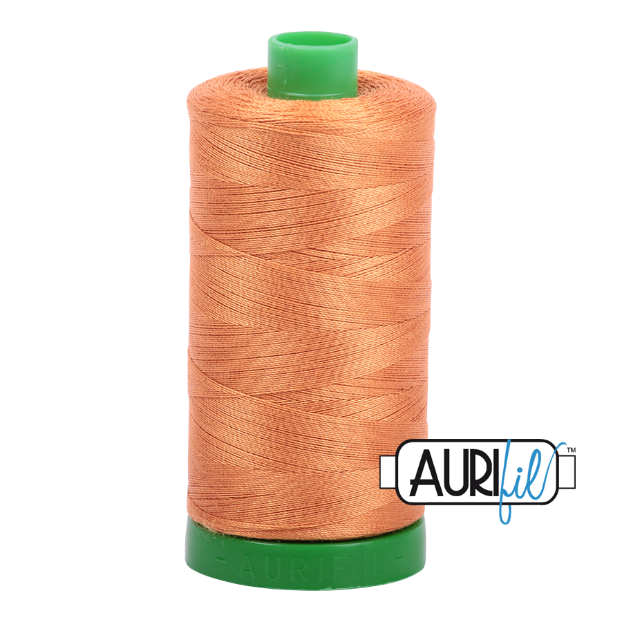 Col. #5009 Medium Orange - Aurifil 40 Weight