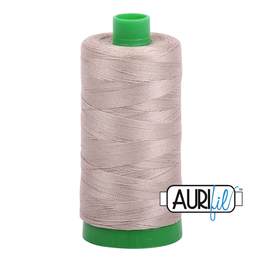 Col. #5011 Rope Beige - Aurifil 40 Weight