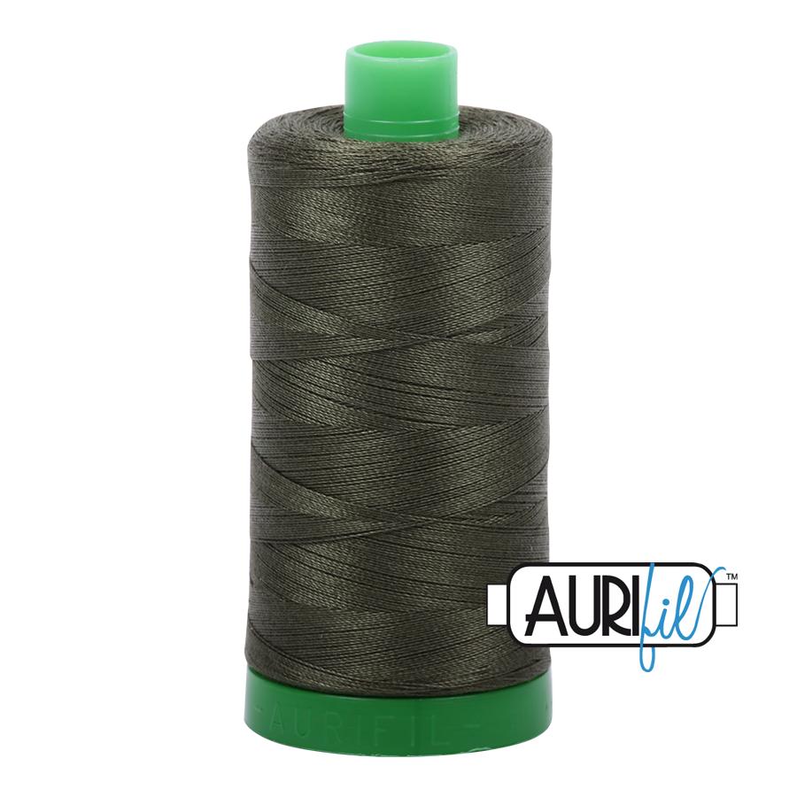 Col. #5012 Dark Green - Aurifil 40 Weight