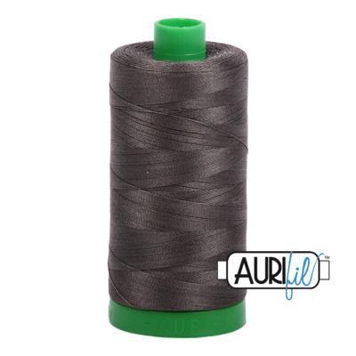 Col. #5013 Asphalt - Aurifil 40 Weight