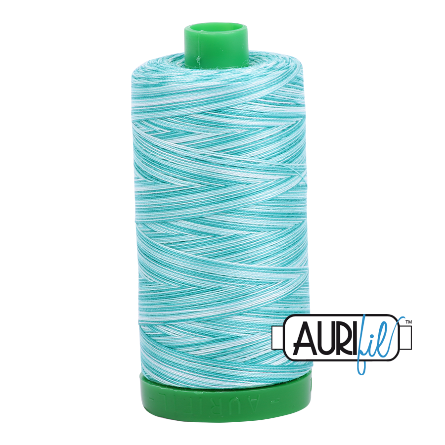 Col. #4654 Turquoise Foam - Aurifil 40 Weight