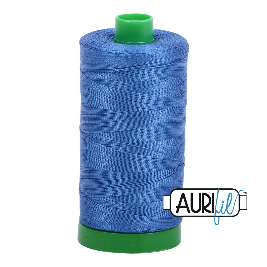 Col. #6738 Peacock Blue - Aurifil 40 Weight