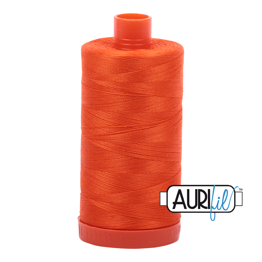 Col. #1104 Neon Orange - Aurifil 50 Weight
