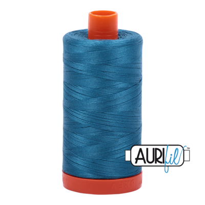 Col. #1125 Medium Teal - Aurifil 50 Weight