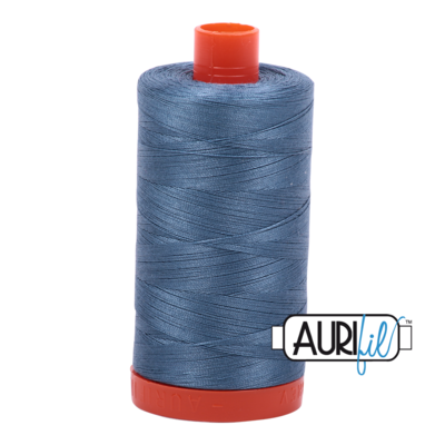 Col. #1126 Blue Grey - Aurifil 50 Weight