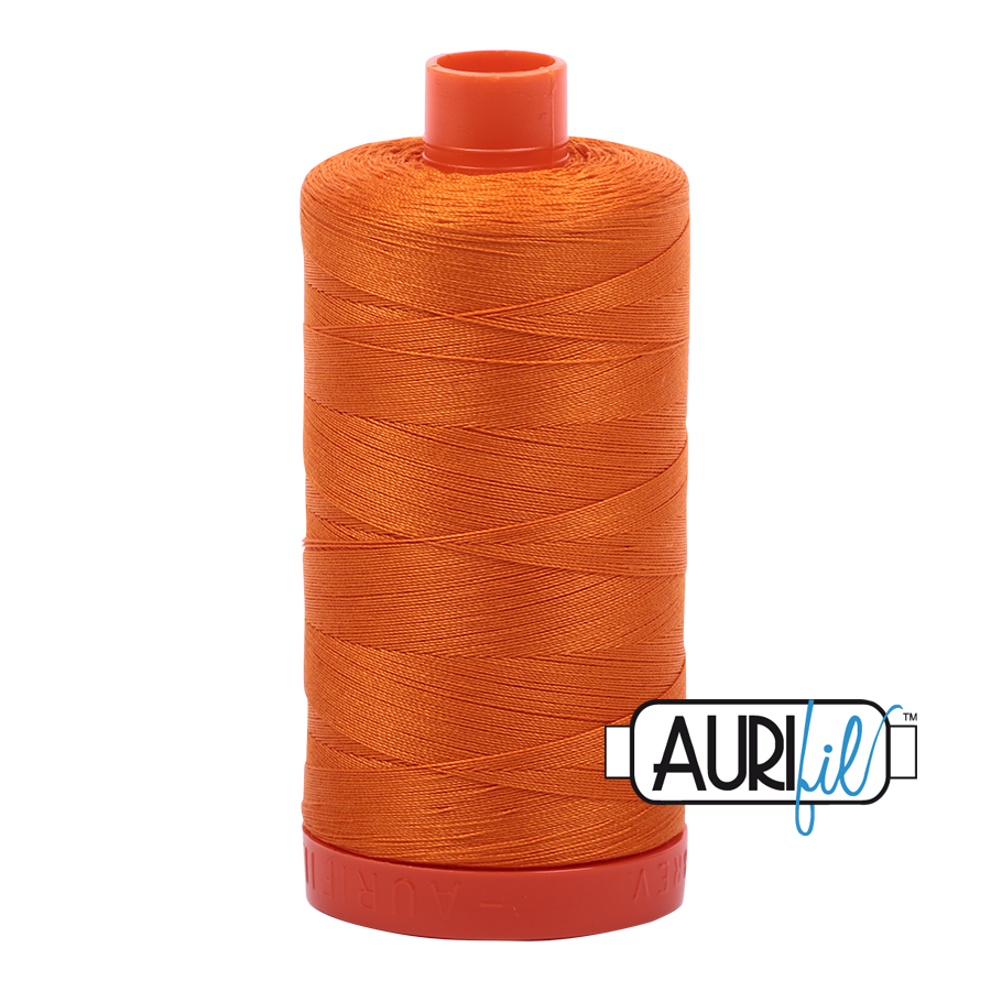 Col. #1133 Bright Orange - Aurifil 50 Weight
