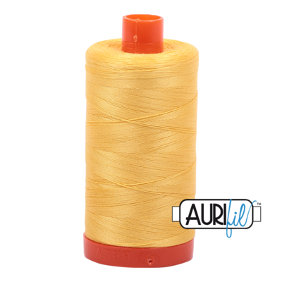 Col. #1135 Pale Yellow - Aurifil 50 Weight