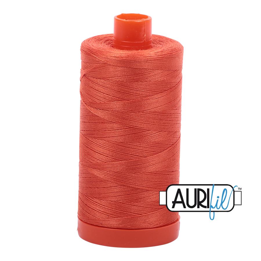 Col. #1154 Dusty Orange - Aurifil 50 Weight
