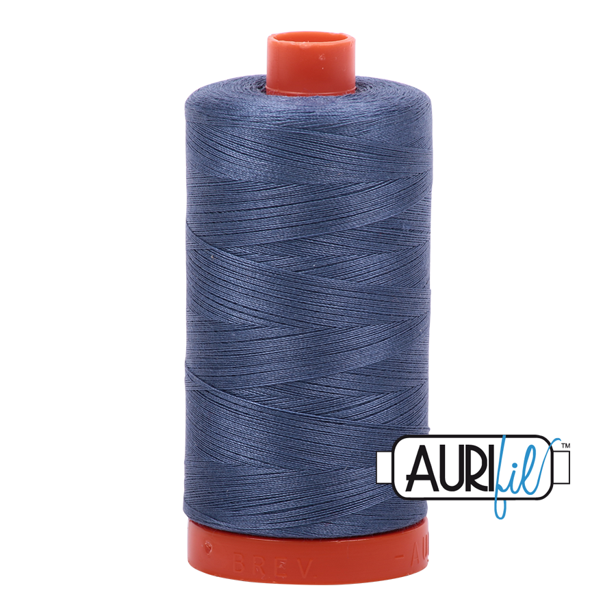 Col. #1248 Dark Grey Blue - Aurifil 50 Weight