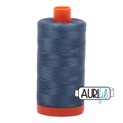 Col. #1310 Medium Blue Grey - Aurifil 50 Weight