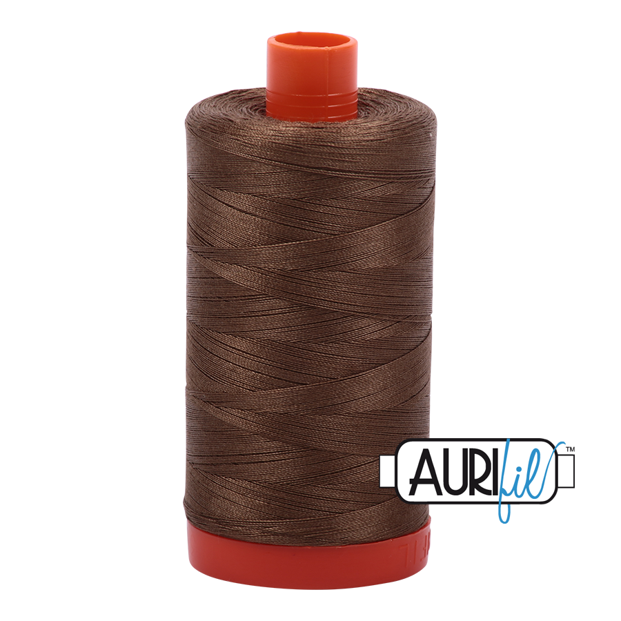 Col. #1318 Dark Sandstone - Aurifil 50 Weight