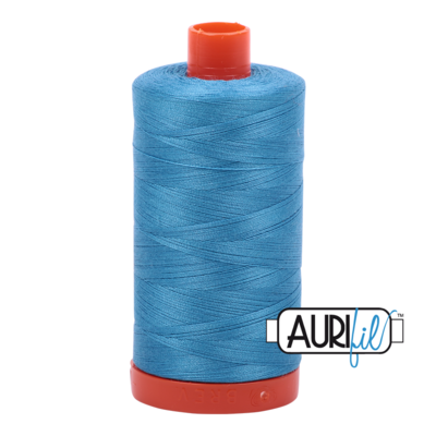 Col. #1320 Bright Teal - Aurifil 50 Weight