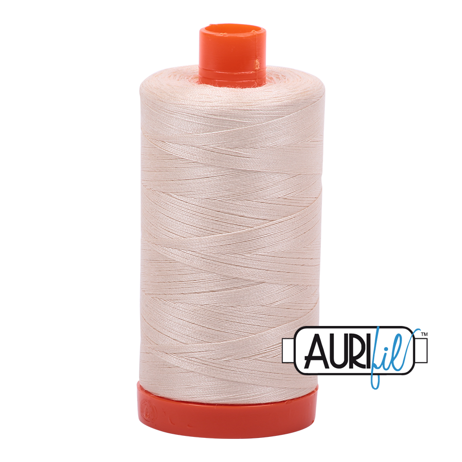 Col. #2000 Light Sand - Aurifil 50 Weight
