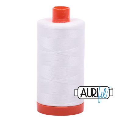 Col. #2021 Natural White - Aurifil 50 Weight