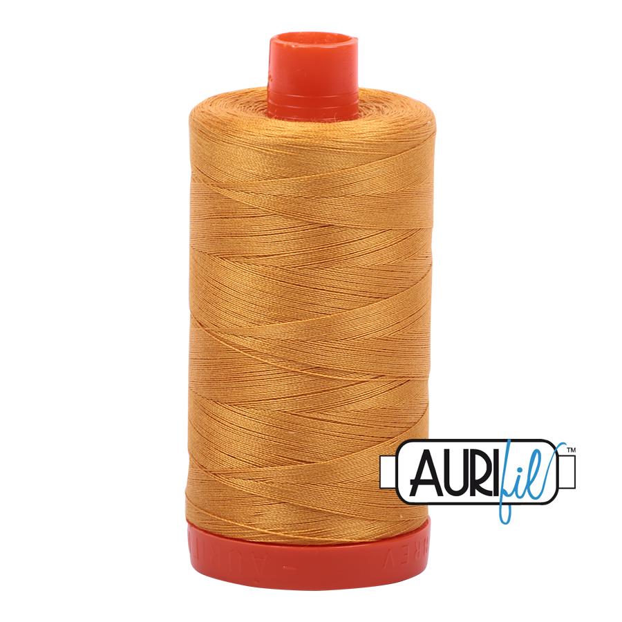 Col. #2140 Orange Mustard - Aurifil 50 Weight
