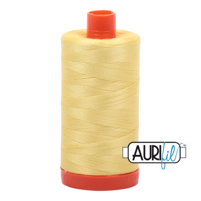 Col. #2115 Lemon - Aurifil 50 Weight