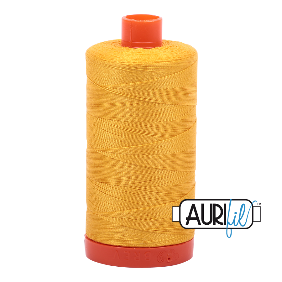 Col. #2135 Yellow - Aurifil 50 Weight