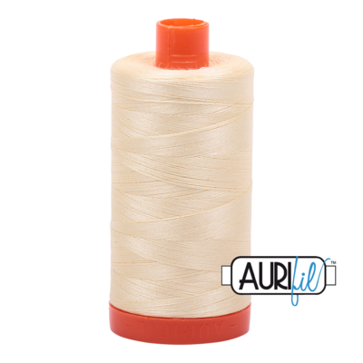 Col. #2110 Light Lemon - Aurifil 50 Weight
