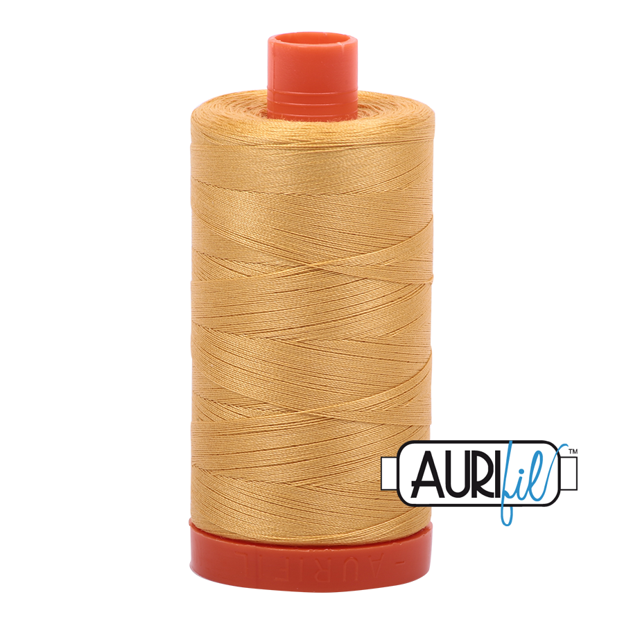 Col. #2134 Spun Gold - Aurifil 50 Weight