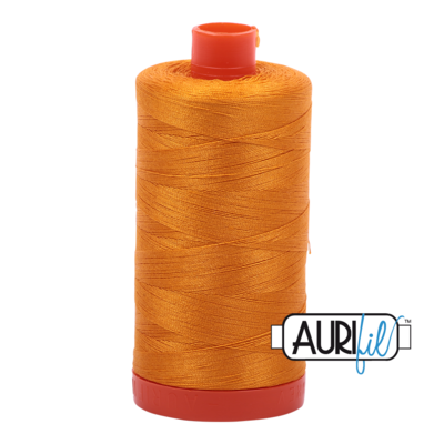 Col. #2145 Yellow Orange - Aurifil 50 Weight