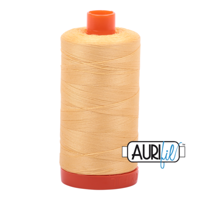 Col. #2130 Medium Butter - Aurifil 50 Weight