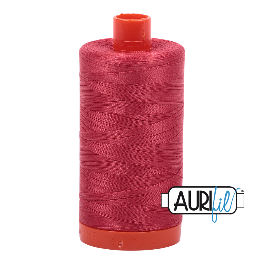 Col. #2230 Red Peony - Aurifil 50 Weight