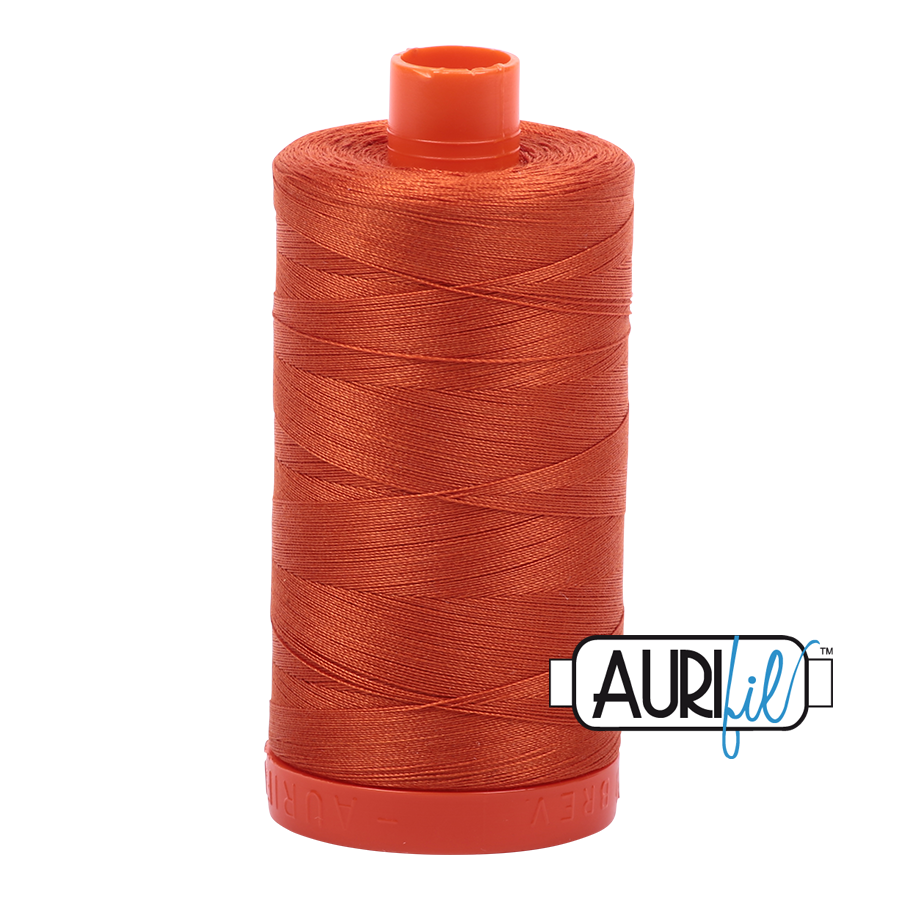 Col. #2240 Rusty Orange - Aurifil 50 Weight