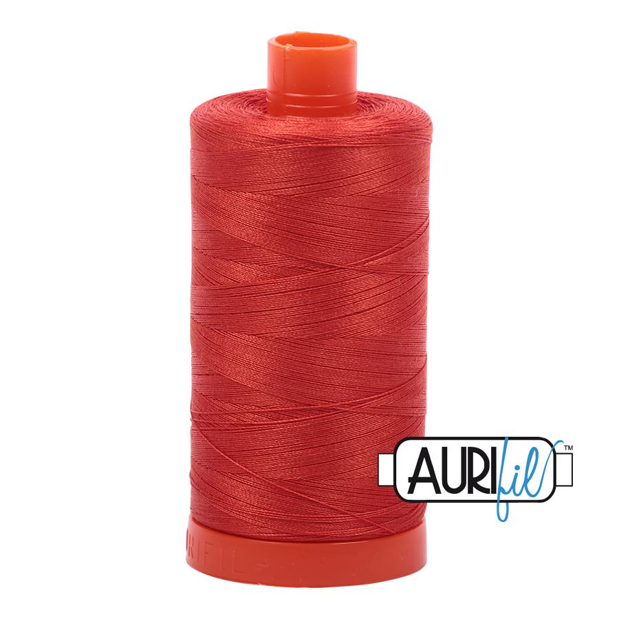 Col. #2245 Red Orange - Aurifil 50 Weight