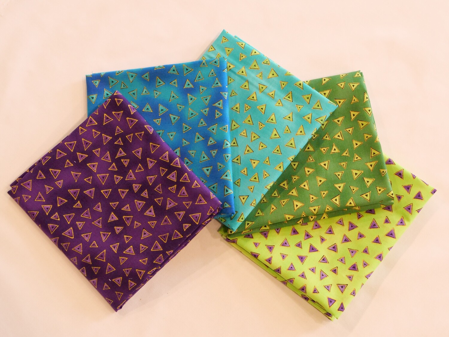 Basic Triangles by Laurel Burch Fat Quarter Bundle