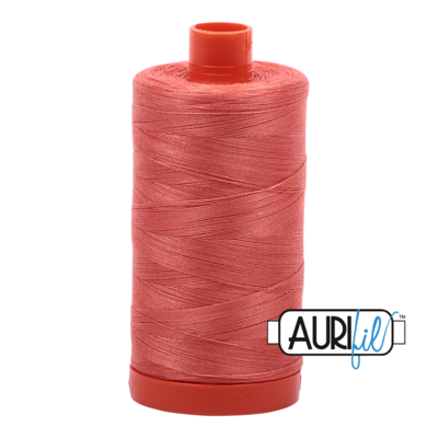Col. #2255 Dark Red Orange - Aurifil 50 Weight
