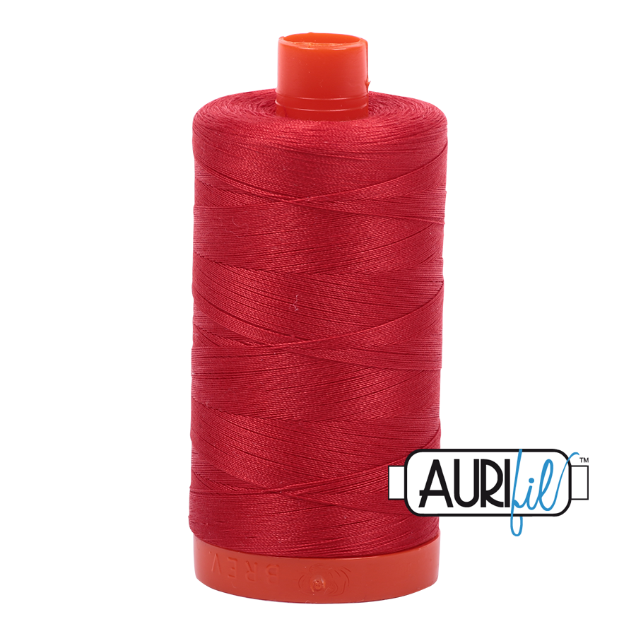 Col. #2265 Lobster Red - Aurifil 50 Weight