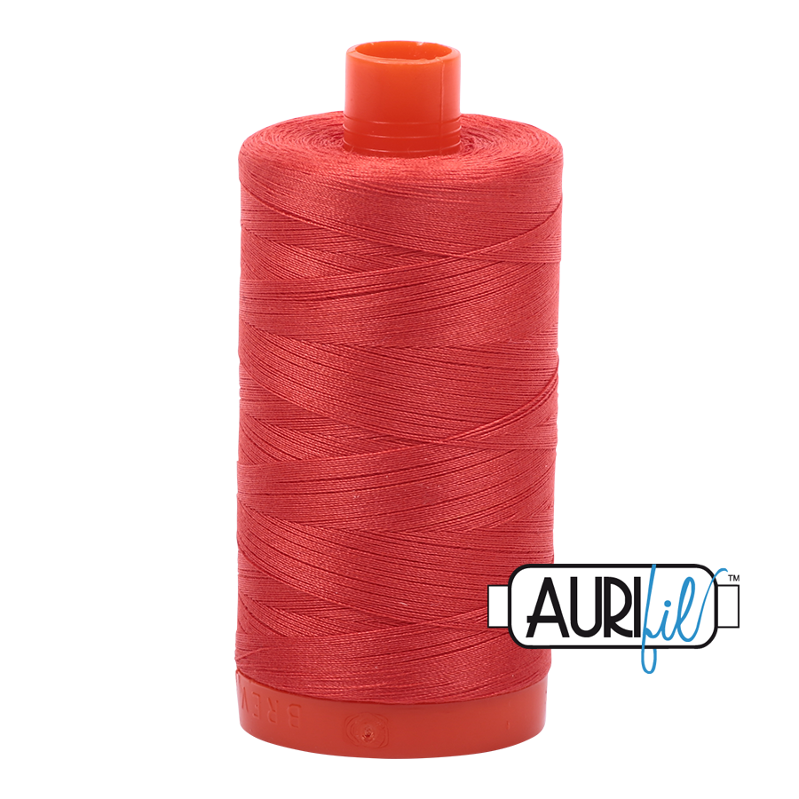 Col. #2277 Light Red Orange - Aurifil 50 Weight