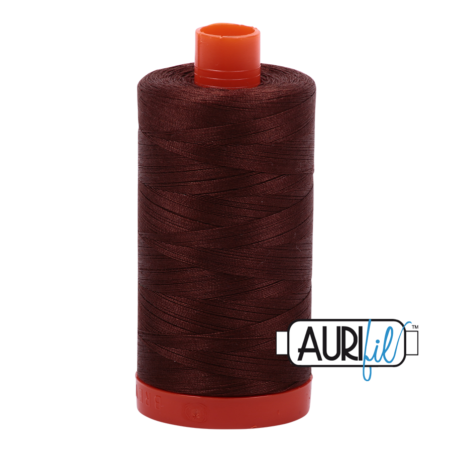 Col. #2360 Chocolate - Aurifil 50 Weight