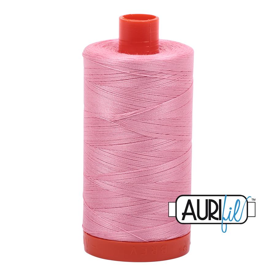Col. #2425 Bright Pink - Aurifil 50 Weight