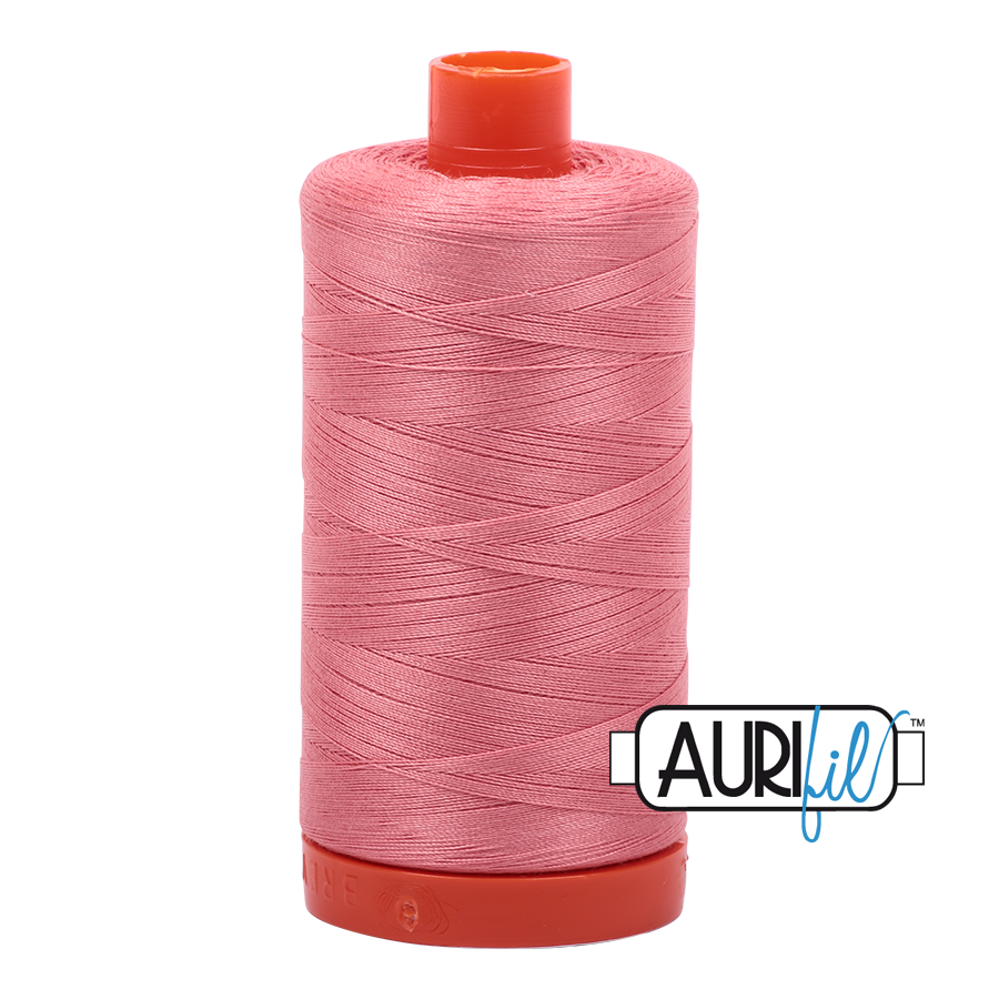 Col. #2435 Peachy Pink - Aurifil 50 Weight
