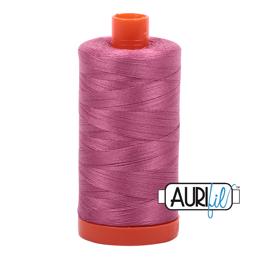 Col. #2452 Dusty Rose - Aurifil 50 Weight