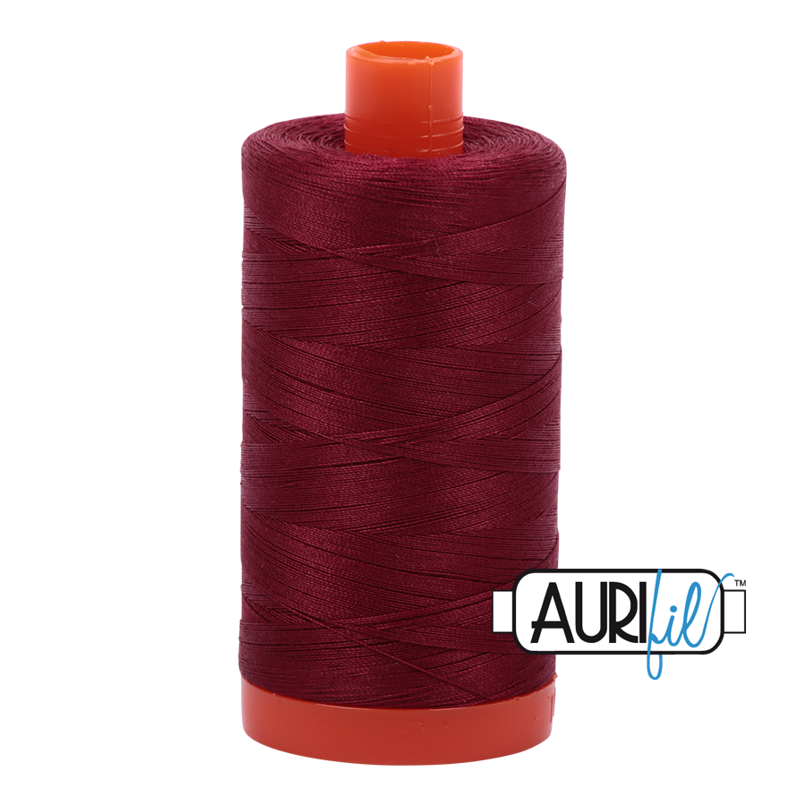 Col. #2460 Dark Carmine Red - Aurifil 50 Weight