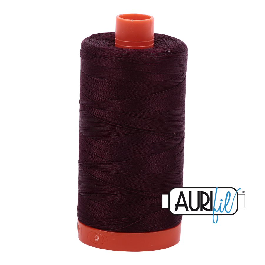 Col. #2465 Very Dark Brown - Aurifil 50 Weight